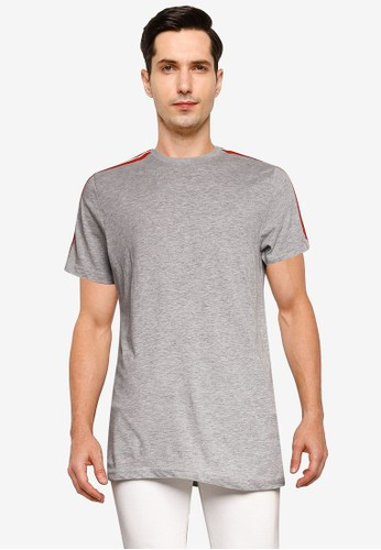 Brave Soul grey Crew Neck Contrast T-Shirt EAAD8AA9028A74GS_1