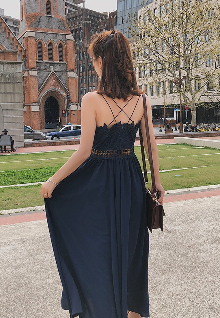 Sundress Blue New Summer Chiffon Blue Sunnydaysweety Spring 2018 A060407 XA8qw18