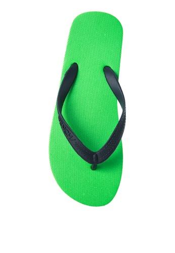 BENCH green Basic Rubber Slippers BE550SH99MBOPH_1