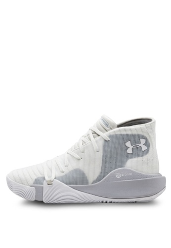 Under Armour 白色 UA Spawn Mid Basketball Shoes 95A6BSH3DC6202GS_1