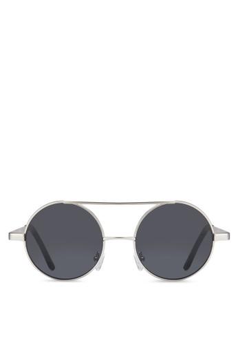 JP0343 雙鏡橋圓框飛行員太陽眼鏡, 飾品配件, 飾品esprit 台北配件