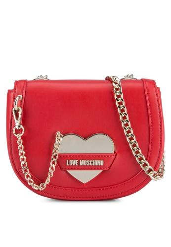 Love Moschino red Borsa Calf Shoulder Bag LO478AC0SELEMY_1
