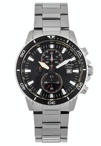 Alexandre Christie silver Alexandre Christie Jam Tangan Pria - Silver Black - Stainless Steel - 6482 MCBSSBA 7F305AC238A032GS_1