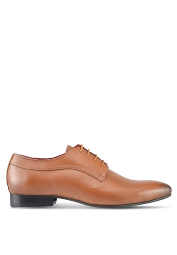 ACUTO brown Lace Up Business Shoes AC283SH0SL65MY_1