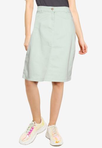 LC Waikiki green Cotton Stretchy Skirt 89992AAF2DC66CGS_1