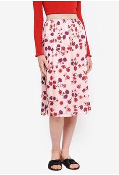 76f9e084f8 ESPRIT pink Woven Midi Skirt B8853AA68B62ECGS 1