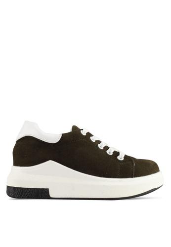 Spiffy brown Korean Trendy Design Sneakers 730F9SHD6A8B4DGS_1