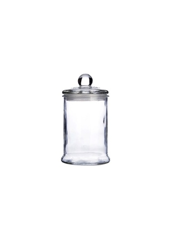 Propstation Heritage Airtight Borosilicate Clear Glass Jar with Lid - 370ml B7648HL0E7FD86GS_1