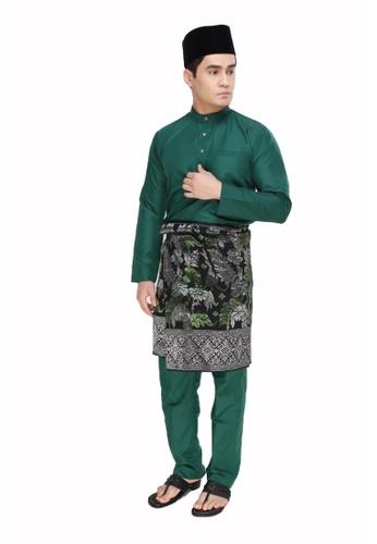 Amar Amran green Baju Melayu Raja Sehari E3E4AAAAE09357GS_1