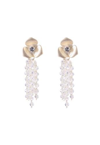 Red's Revenge gold Crystal Bloom Dangle Earrings DC479AC0D0DCEFGS_1