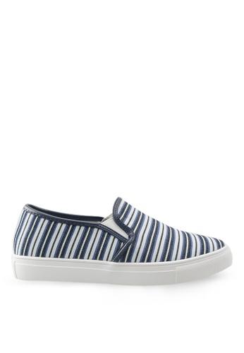 Footspot multi FOOTSPOT – Trendy Stripe Slip-on Sneakers FO296SH90DDHHK_1