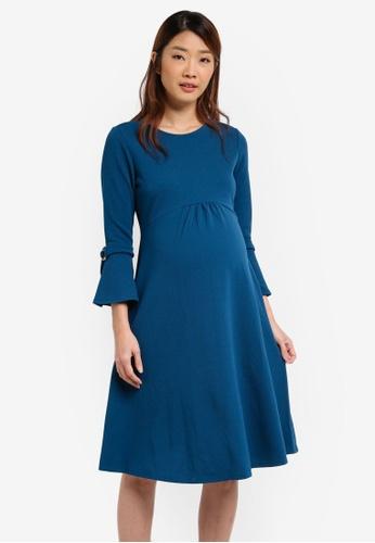 Dorothy Perkins blue Maternity Empire Dress DO816AA0T05YMY_1