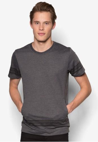 民族風條紋短袖T-shirt、 服飾、 T恤JAXON民族風條紋短袖上衣最新折價
