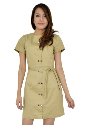 MOONRIVER brown Carrie Button Front Office Wear MO886AA68CUDSG_1