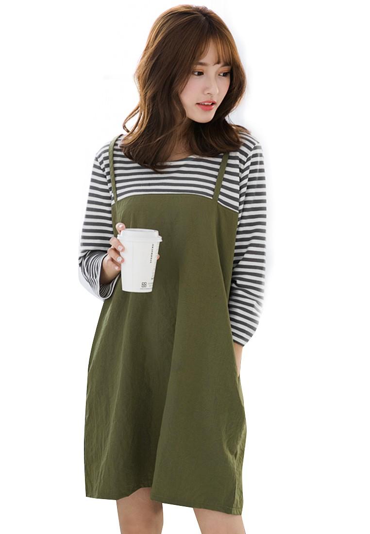 Hip Stripes 2-in-1 Dress