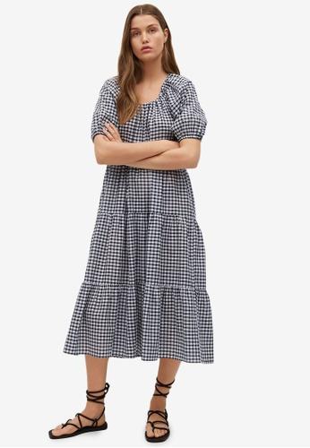 Mango black Check Pattern Midi Dress C15B1AAE202458GS_1