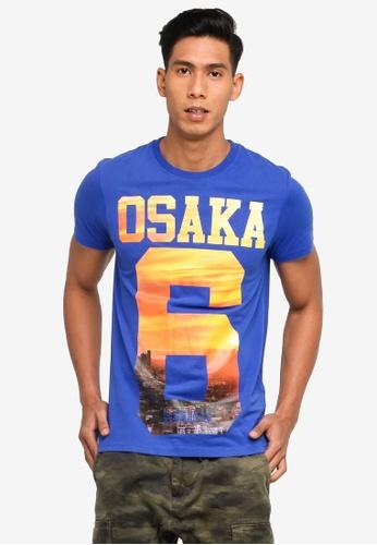 SUPERDRY blue Osaka Tee 2A239AAC330006GS_1