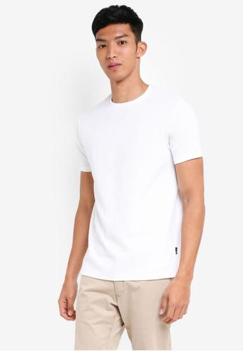 Burton Menswear London 白色 White Waffle Textured T-Shirt DF08CAA9FD3D64GS_1