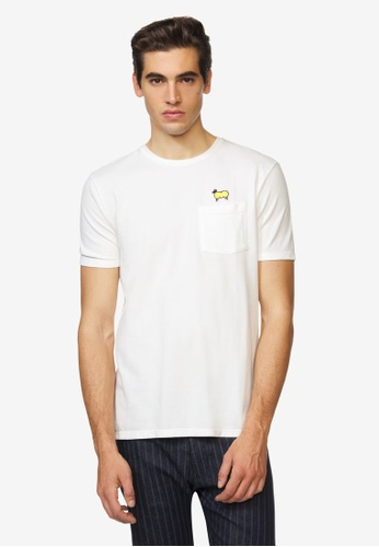 United Colors of Benetton white Printed T-shirt B99C2AA20AD700GS_1