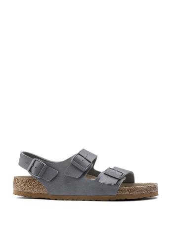 Birkenstock 灰色 ZALORA EXCLUSIVE - Milano Birko - Flor Desert Soil Sandals 616A8SH9EE4A11GS_1