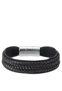 Men's Woven Wristband With Buckle