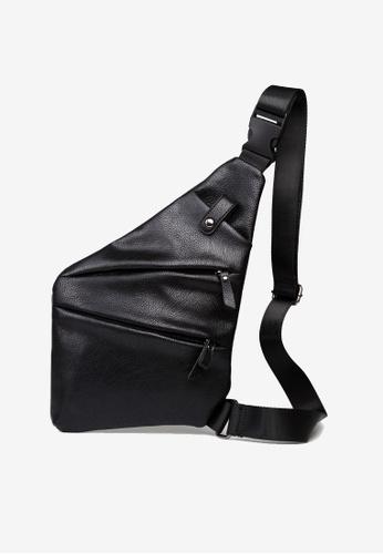Lara black Plain Zipper Cross Body Bag - Black 2EF14AC1878514GS_1
