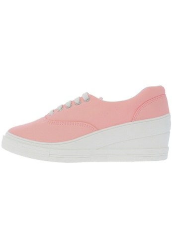 Maxstar 7H 5 Holes Synthetic Leather Lace Up Sneakers US Women Size MA168SH78DXHHK_1