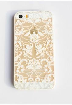 Floral Damask Hard Transparent Case for iPhone 5/5s/SE