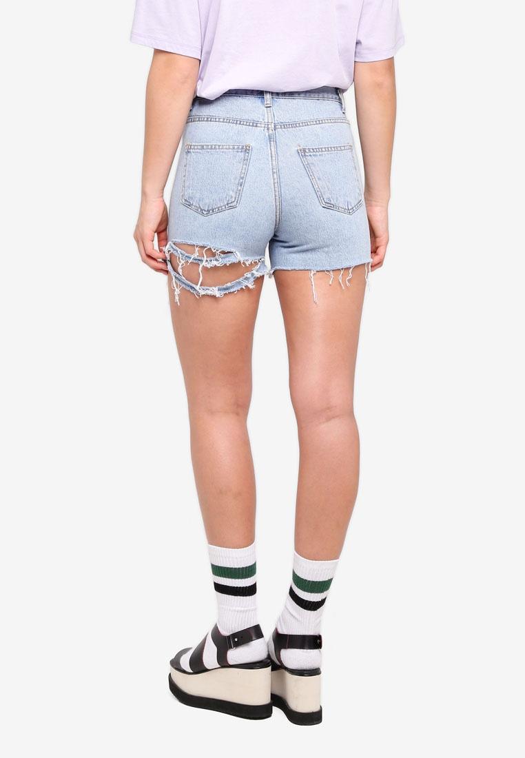 Shorts Cutout Stylenanda Ripped Blue Stylenanda Ripped Cutout Shorts nqxxvaYP