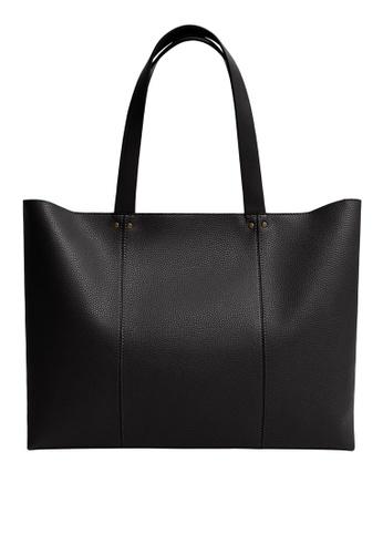 Mango black Seam Shopper Bag ED753ACE7137F9GS_1