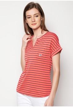 Printed Stripe Top