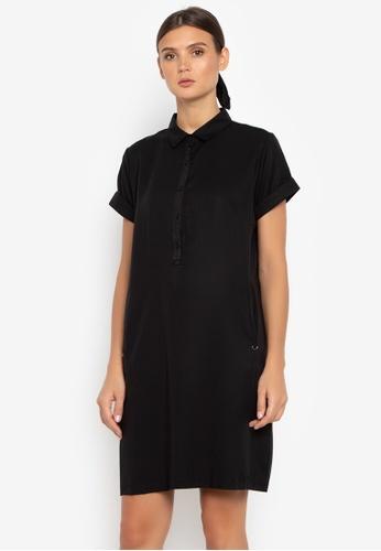 Susto The Label black Ranika Buttondown Dress CBAB4AA60732FFGS_1