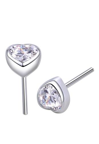 SC Tom Silver silver Heart Stud Stone Earrings 8mm SC872AC0JC26PH_1