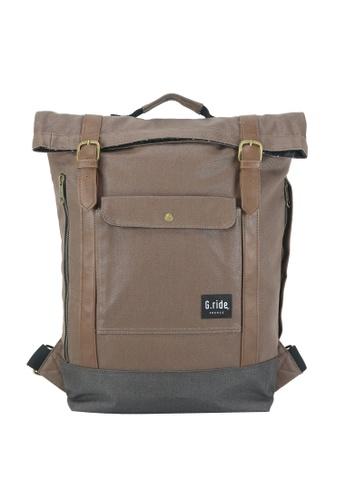 G.ride brown Balthazar Backpack 70ED0AC010EAEAGS_1
