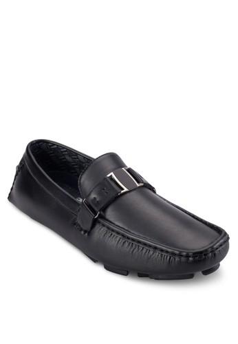 扣環飾方頭樂福鞋, 鞋, 船型zalora 內衣鞋