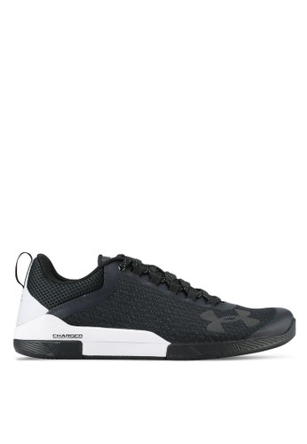 Under Armour black and multi UA Charged Legend TR Shoes UN683SH0UO1AID_1