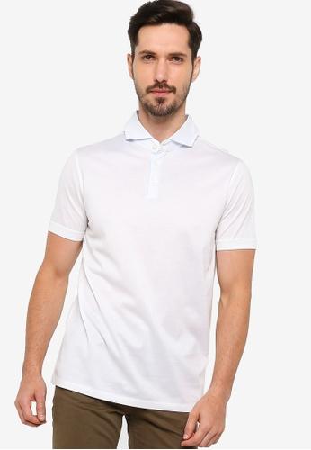 BOSS white Platt 01 Polo Shirt - BOSS Men 36351AA9050FD9GS_1