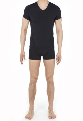 HOM black Plumes Tee-Shirt V Neck 96922US80DFB31GS_1