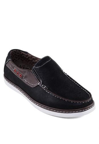 皮革拼接樂福鞋, 鞋,esprit 內衣 鞋