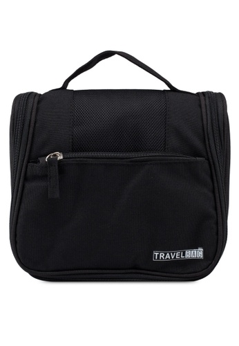 Bagstationz black Lightweight Water Resistant Travel Organizer And Toiletries Pouch 7F137AC46F8384GS_1