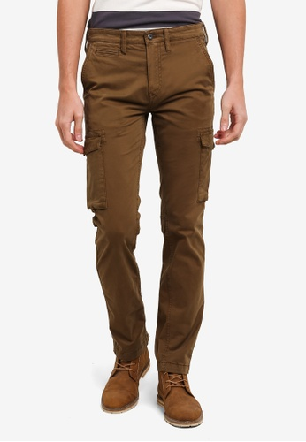 Timberland brown Sargent Lake Lightweight Stretch Twill Slim Cargo Pants TI063AA0SB89MY_1