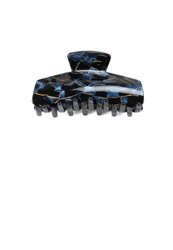 Glamorousky black and blue Fashion and Elegant Blue Pattern Geometric Hair Claw FEE47AC9CCA92DGS_1