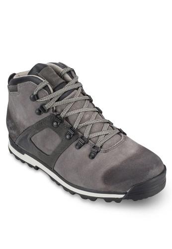 混合材質繫帶防水踝靴, 鞋esprit hk, 鞋