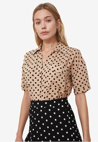Trendyol beige Pocket Detail Shirt 04EACAA165679FGS_1