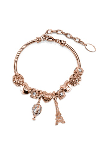 1b52b511638 Her Jewellery gold La Ville Charm Bracelet (Rose Gold) - Embellished with  Crystals from