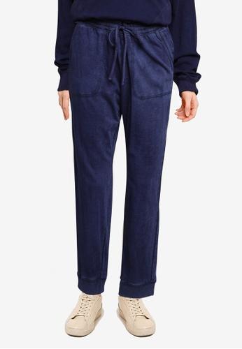 GAP 海軍藍色 Soft Slub 慢跑褲 B276AAA657E288GS_1