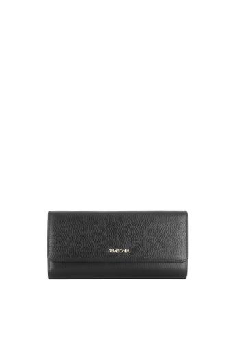 SEMBONIA black Genuine Leather Wallet (Black) SE598AC0SS2AMY_1