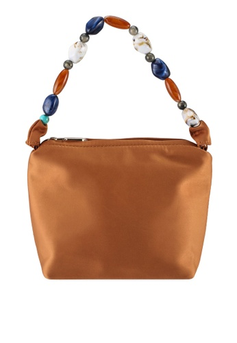 Milliot & Co. brown Ella Top Handles Bag 8079BACED2DA7FGS_1