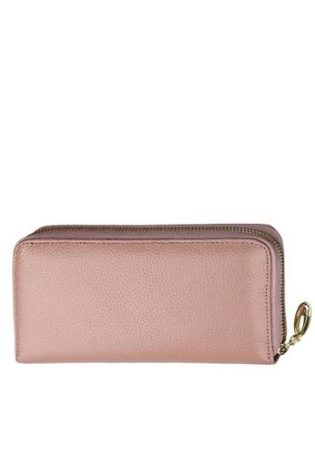 Twenty Eight Shoes pink VANSA Top Layer Cowhide Bi-Fold Long Wallet VBW-Wt906 5C86DAC283A2EBGS_1