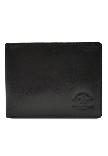 Santa Barbara Polo & Racquet Club black Santa Barbara Luxurious Leather Bifold Wallet SA678AC0GQ9CSG_1